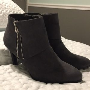 Madeline grey suede boots